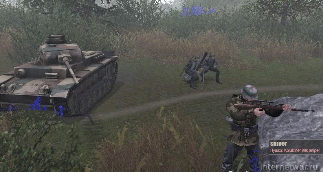 скачать мод men of war assault squad