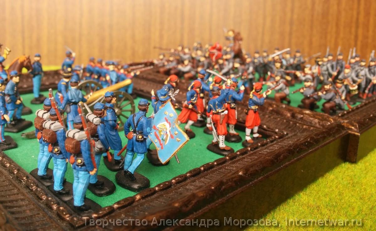 военная миниатюра, раскраска миниатюр, гражданская война в сша