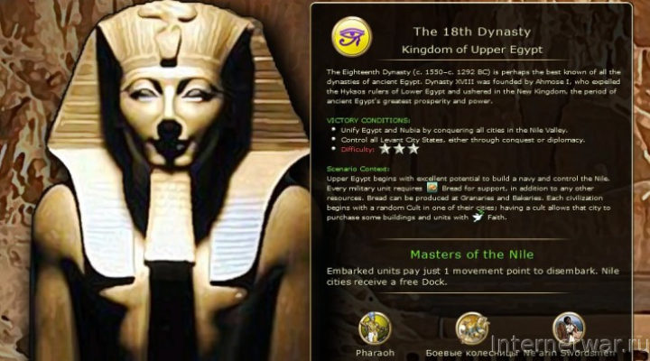 Ancient Egypt — мод для Civilization 5