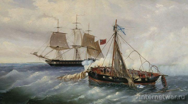 Один в море воин. Бой русского катера с английским фрегатом