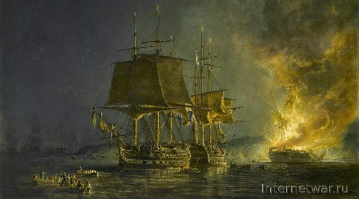 Один в море воин 2. Бой русского линкора с двумя английскими